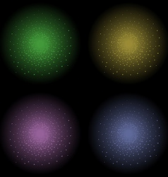 Star shine effect green yellow violet dark blue vector image