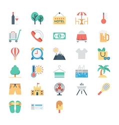 Summer and Holidays Colored Icons 4 vector