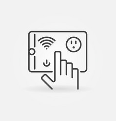 tablet with wi-fi and us smart socket vector image