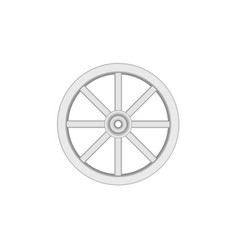 Vintage wooden wheel in light design vector