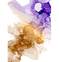 watercolor abstract violet ink liquid flow vector image
