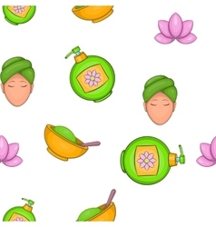Wellness and spa pattern cartoon style vector