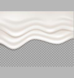 White cream milk creamy liquid yogurt splash vector