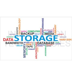Word cloud storage vector