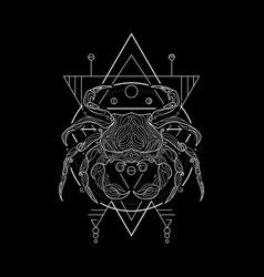 zodiac cancer geometri style vector image