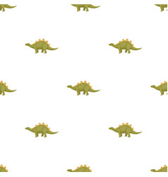 Dinosaur stegosaurus icon in cartoon style vector