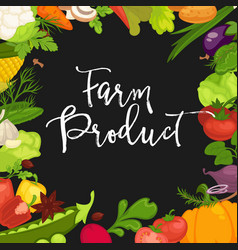 farm product promotional poster with fresh organic vector image vector image
