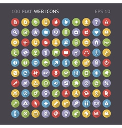 Flat web interface icons vector image vector image