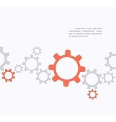Gears design vector image