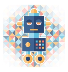 Geometric background with robot vector image vector image