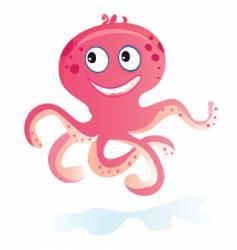 sea octopus vector image vector image