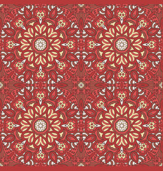 seamless pattern doodle ornament ethnic motives vector image vector image