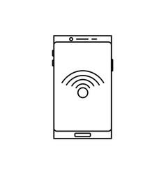 smartphone wifi icon vector image