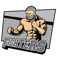 fighter ready for fighting vector image vector image