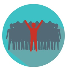 Leadership concept Stand out from the crowd vector image