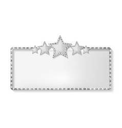 Marquee banner with stars vector