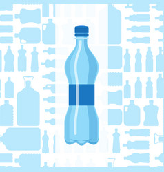 plastic water bottle blank brochure nature vector image