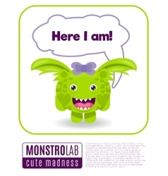 a monster saying here i am vector image