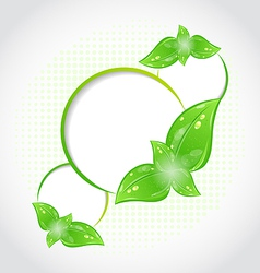 Abstract frames with eco green leaves vector image vector image