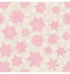Christmas seamless pattern snowflake EPS 10 vector image