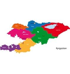 Kyrgyzstan map vector image vector image