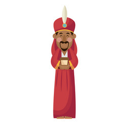 manger wise king gift christianity character vector image