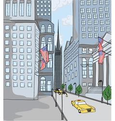 new york cartoon background vector image
