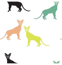 Seamless Pattern of a Cat Silhouettes vector image
