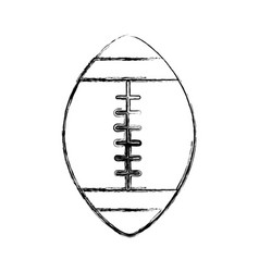 Sketch draw american football ball cartoon vector