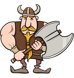 viking cartoon vector image vector image