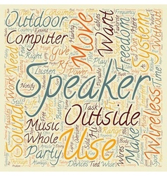 Be free with wireless speakers text background vector image