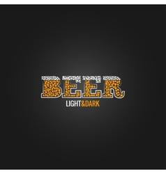 Beer design menu background vector