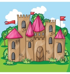 Cartoon fairy tale castle vector image