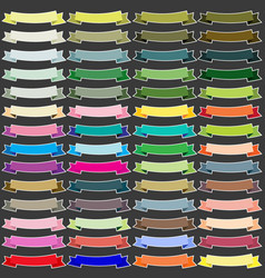 colorful ribbon banners sticker vector image