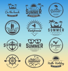 Modern retro insignia for summer holidays vector image