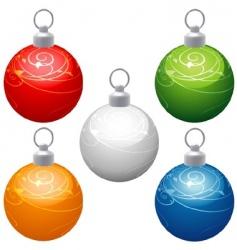 special christmas balls vector image
