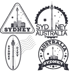 Sydney city stamps vector