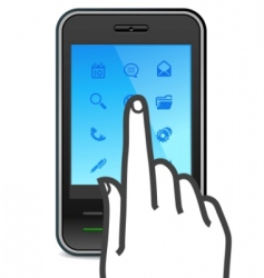 touch screen smartphone icon vector image