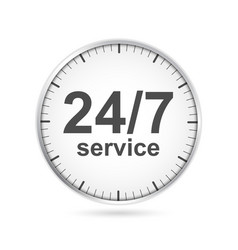 24 hours 7 days customer service icon vector