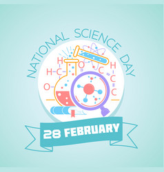 28 february national science day vector image