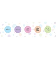 5 pub icons vector