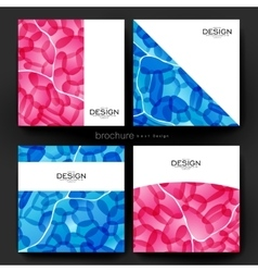 Abstract brochure template flyer layout vector