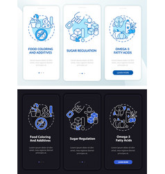 Adhd nutrition onboarding mobile app page screen vector