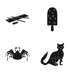 Animal home nature and other web icon in black vector