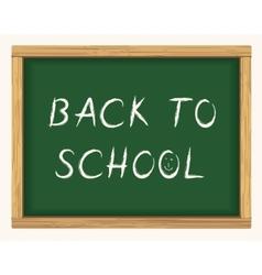 Back to school blackboard poster vector