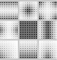 Black and white circle pattern set vector