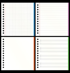 Blank notebook pages vector