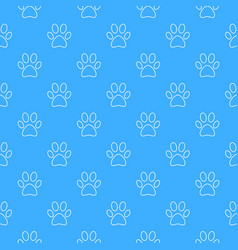 blue footprint seamless pattern vector image
