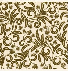 Brown flowers vector