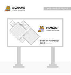 business bill board design with labour jacket logo vector image